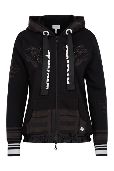 Sweatjacke mit Glitzerdetail