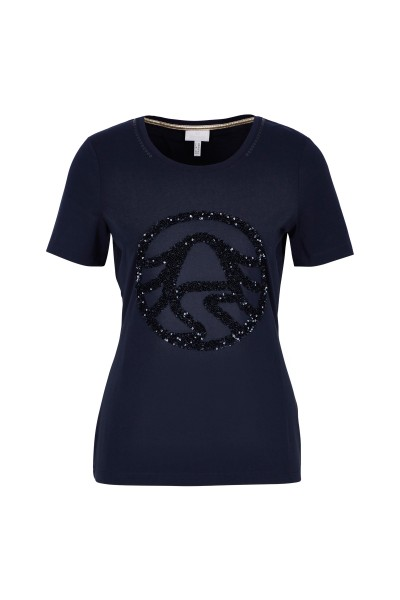 Kurzarm Shirt mit Pailetten-Detail