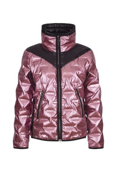 Sporty jacket with a high collar