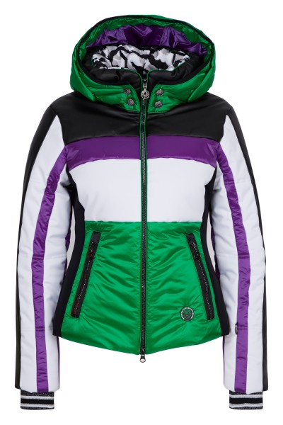 Skijacke im Colourblocking-Stil