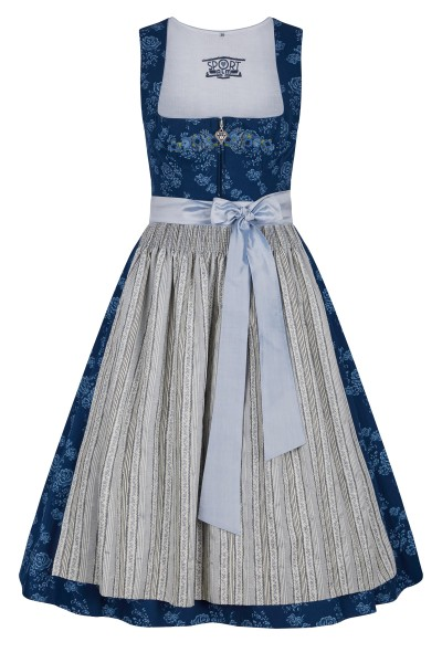 Dirndl in blue and white floral print