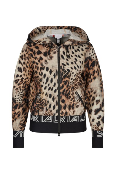 Sweat jacket in all-over leo print