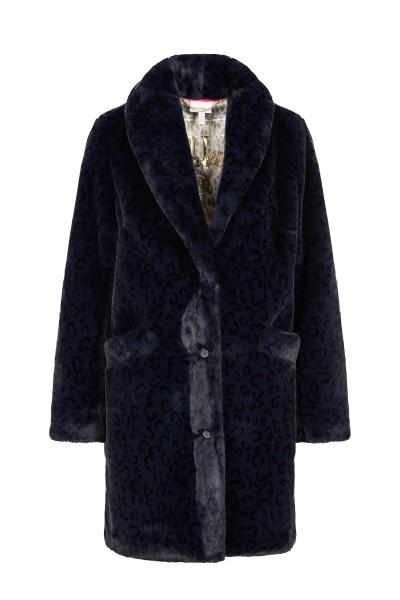 Casual, elegant faux fur coat