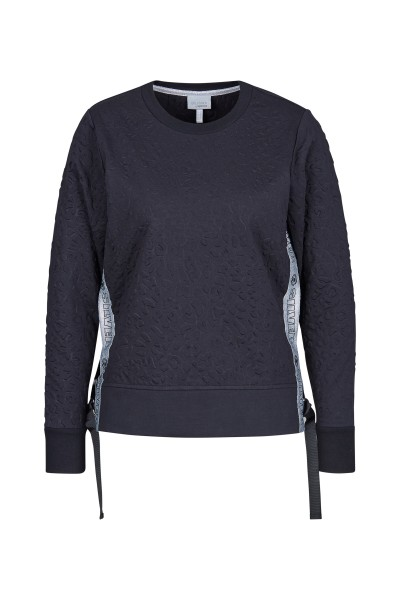 Sweatshirt mit innovativem Leoprint und Seitenstreifen mit Sportalm-Schriftzug