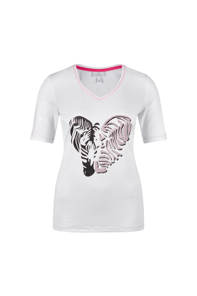 Shirt mit plakativem Zebraprint