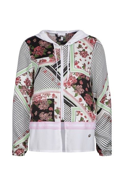 All-over print jacket with hood