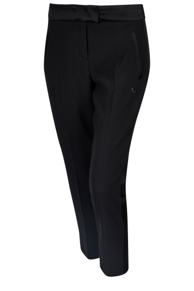 Trousers with side galon stripes