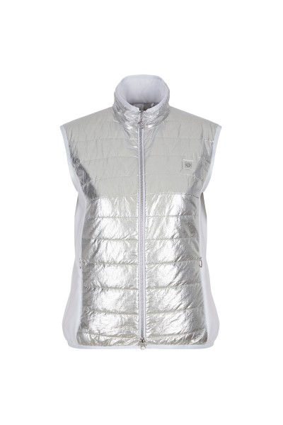 Padded vest in a metallic look