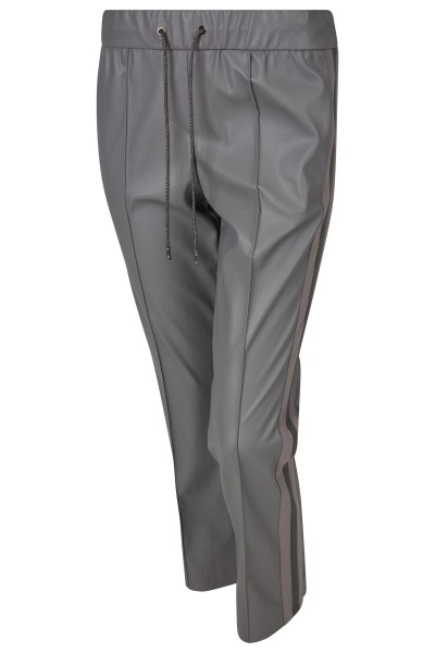 Modische Lederjogginghose in 7/8-Länge mit geradem Bein