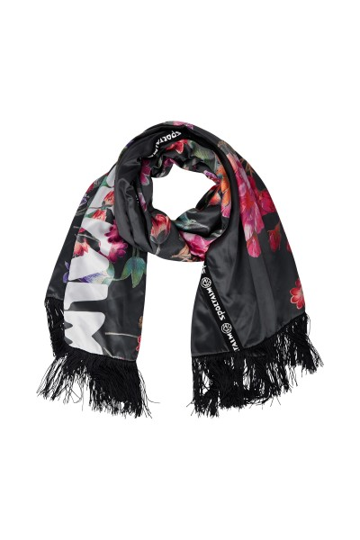 Scarf with floral flower print