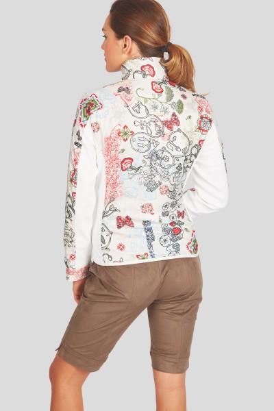 Sportive Jacke mit Nylondruck