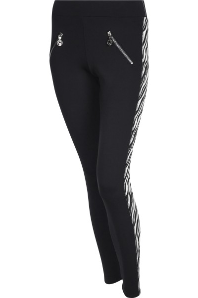 Figure-hugging trousers with lateral Galon stripes