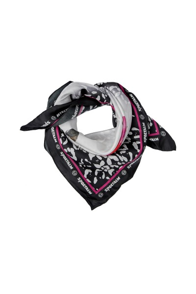 Leo silk scarf with floral motif