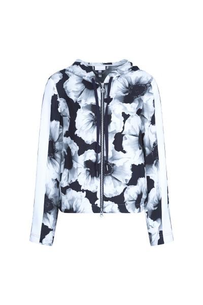 Sportliche Jacke im Allover-Blumen-Print
