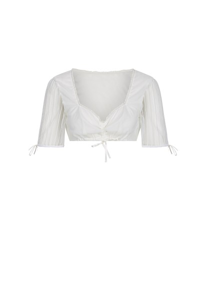 Traditional blouse with heart-shaped neckline
