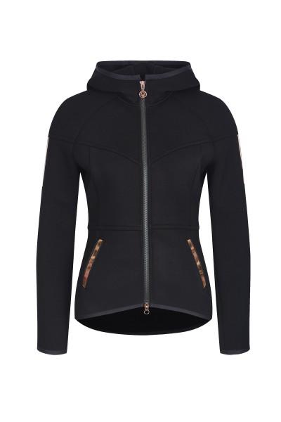 Sportliche Neopren-Jacke mit Kapuze