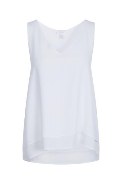Elegant sleeveless blouse with V-neckline