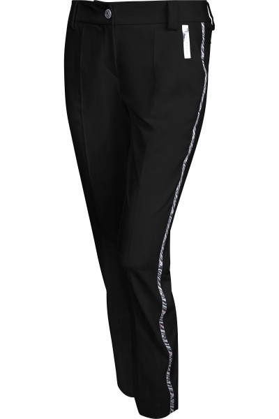 Golf pants with galon stripes