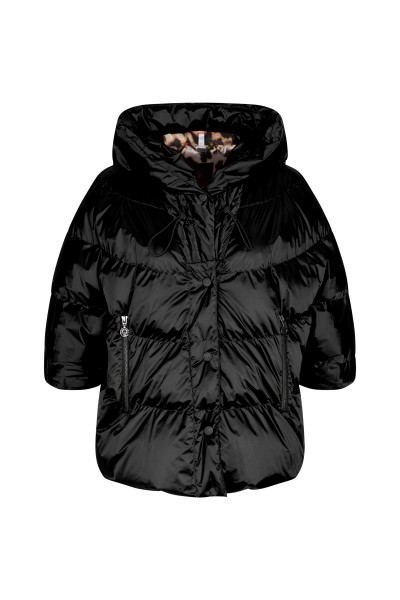 Real down jacket in A line