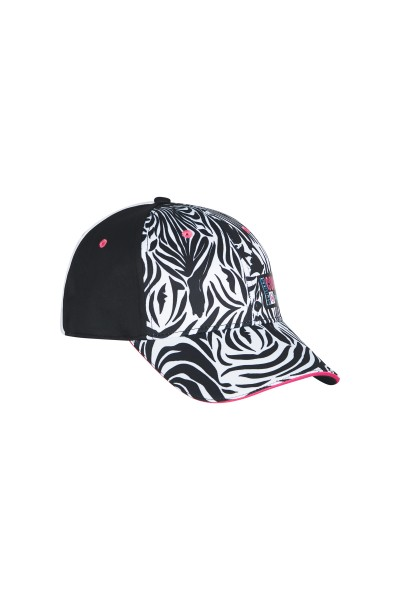 Golf cap in zebra look