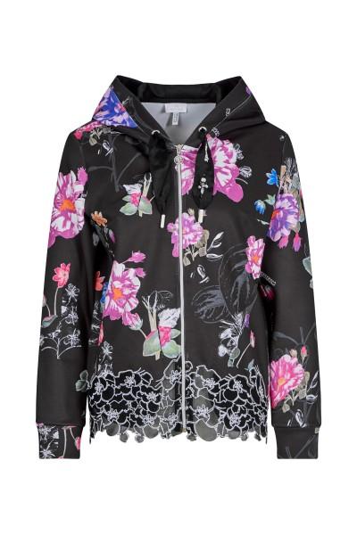 Scuba Jacke im floralem Print