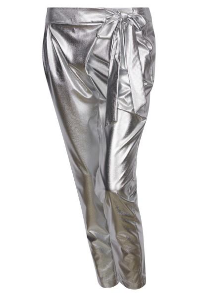 casual metallic nylon pants