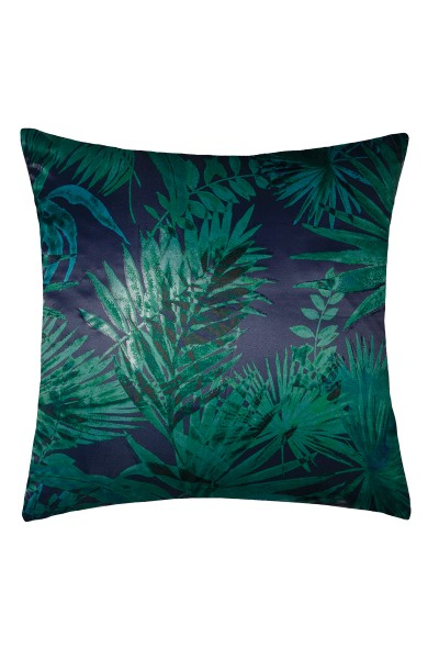 Decorative cushion cover with palm tree motif