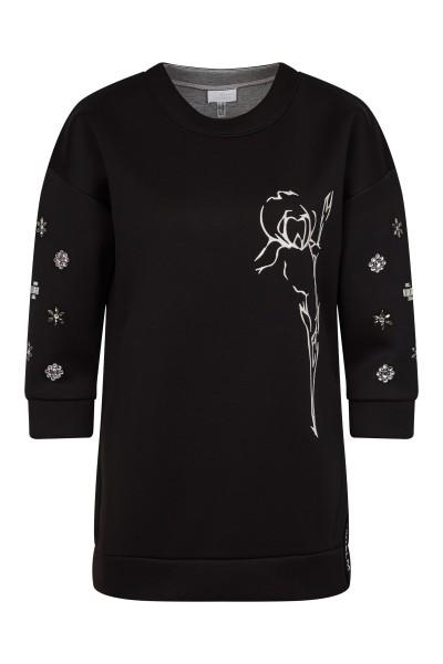 Sweater mit Strassmotiv