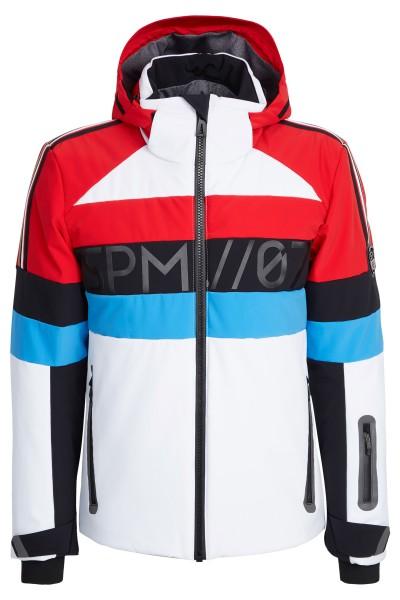 Sporty ski jacket in color block