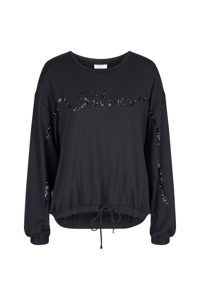Casual jumper with Silver lettering