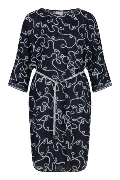 Dress in maritime all-over print