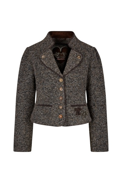 Traditional jacket with stand-up collar and lovely details