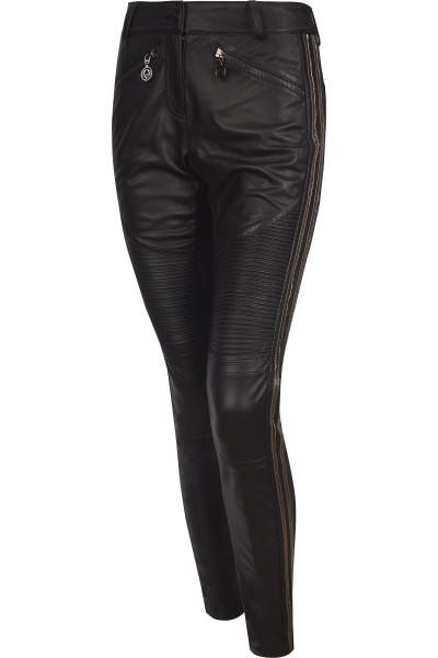 Figurbetonte Hose aus Nappa/Jersey Qualität