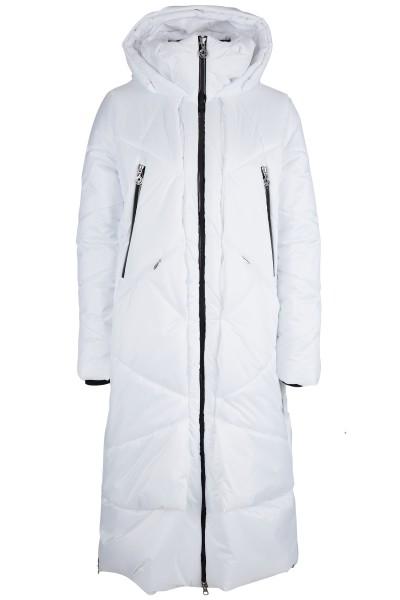Wattierter Mantel in modischer A-Linien-Form und großer Kapuze