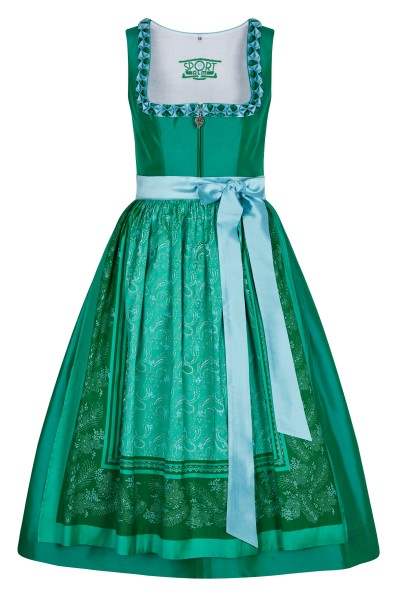 "Silk ""Dirndl"" with printed apron"