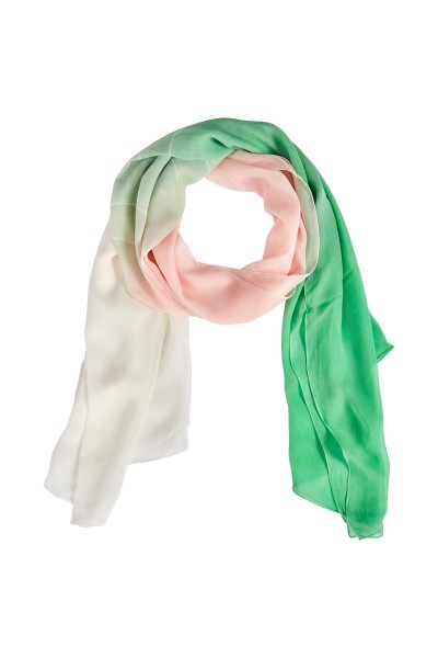 Transparent viscose scarf