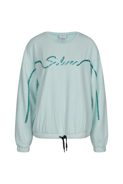 Legerer Sweater mit Silver-Schriftzug