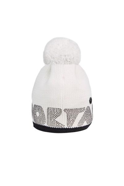 Mütze mit Garn Pommel