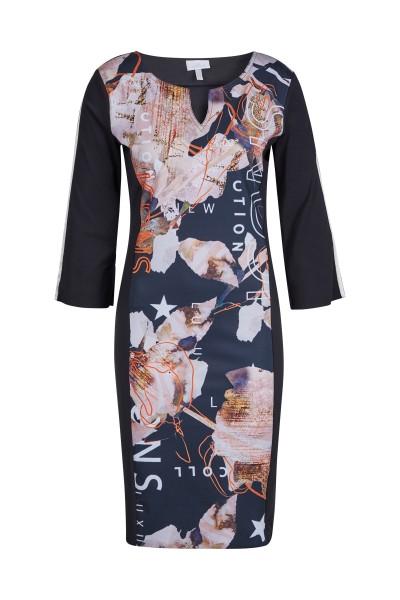 Floral bedrucktes Jerseykleid