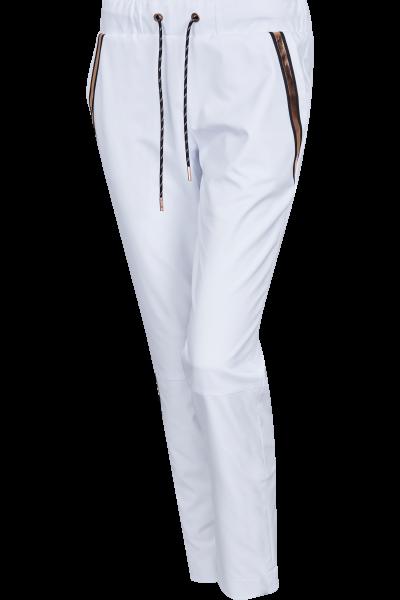 Narrow golf pants with metallic bands