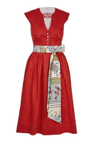 Verspieltes Kleid aus edlen Baumwolldruck