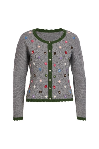 Traditional jacket with knitted flowers