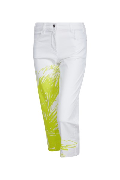 Summery trousers with palm tree motif