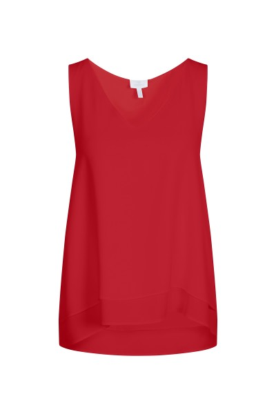 Elegant sleeveless blouse with V-neckline