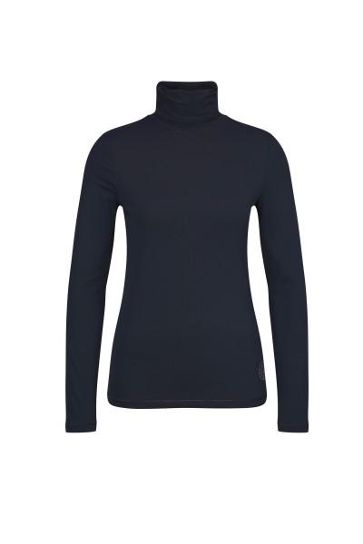 Rollkragen-Shirt mit Strass-Detail
