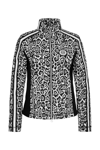 Fleecejacke im Leo-Design