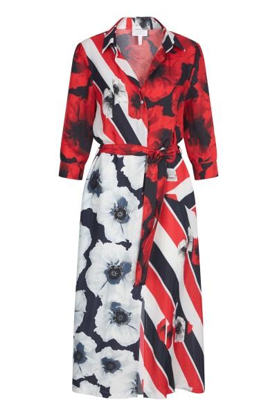 Hemdblusenkleid im Allover-Blumendruck