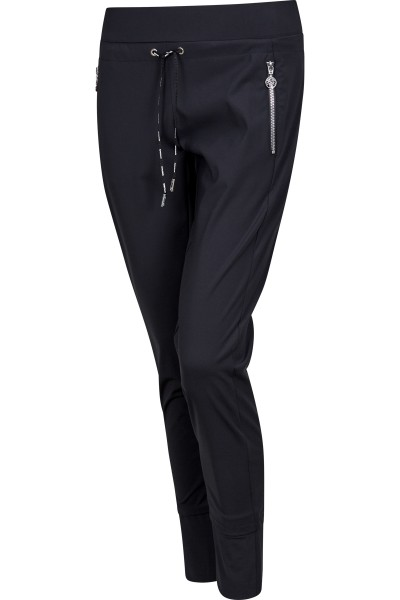 Sporty jersey trousers with drawstring