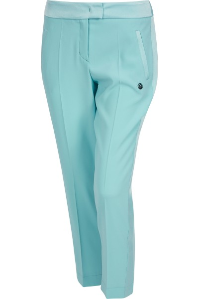 Waisted trousers with side stripes