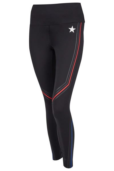 Sporty leggings with exciting tape bands